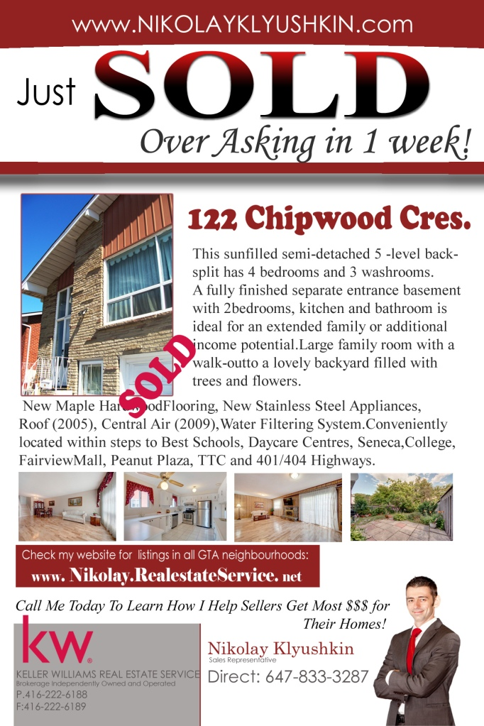 122 Chipwood-SOLD OVER ASKING IN 1 WEEK!