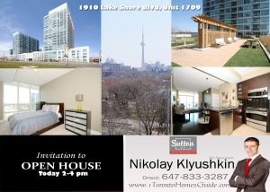 1910 Lake Shore Unit 1709 Open House Invitation