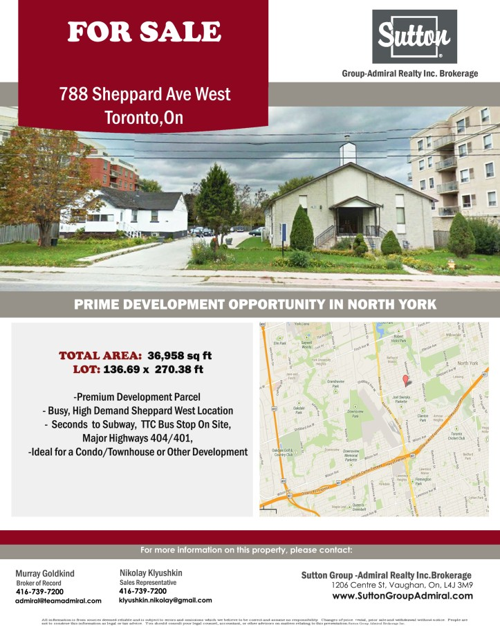 788 Sheppard Ave W for sale