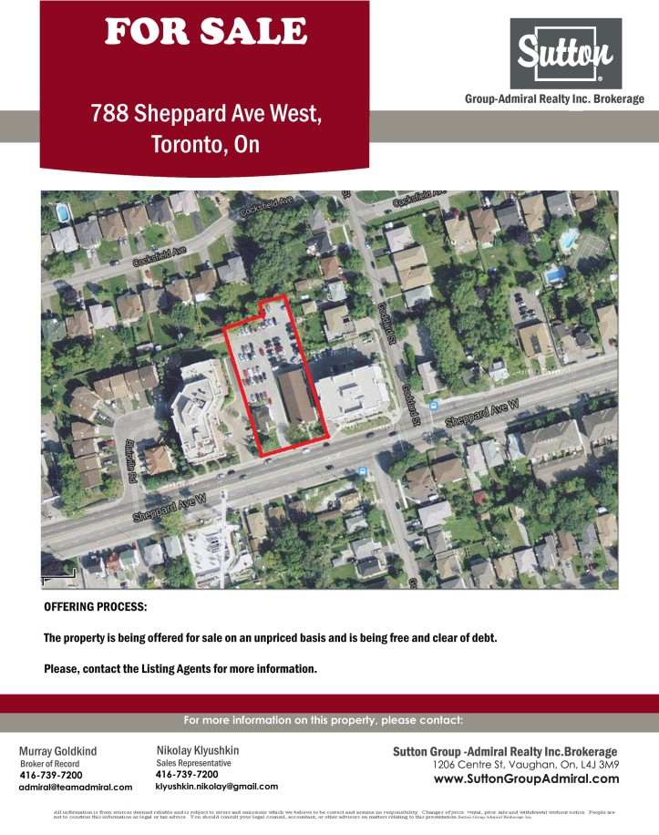 New Development Opportunity- 788 Sheppard Ave W-2