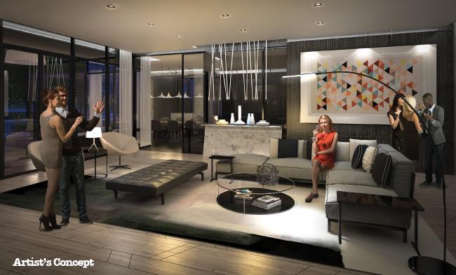 lounge at BIYU condos