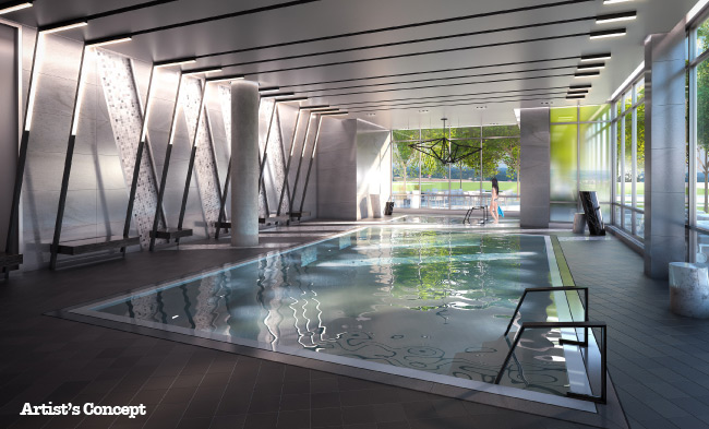 pool at BIYU Condos  by Nikolay Klyushkin