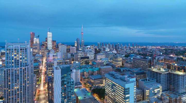 Skyline view from 11-Wellesley-On-The-Park-Condos for sale by Nikolay KLyushkin
